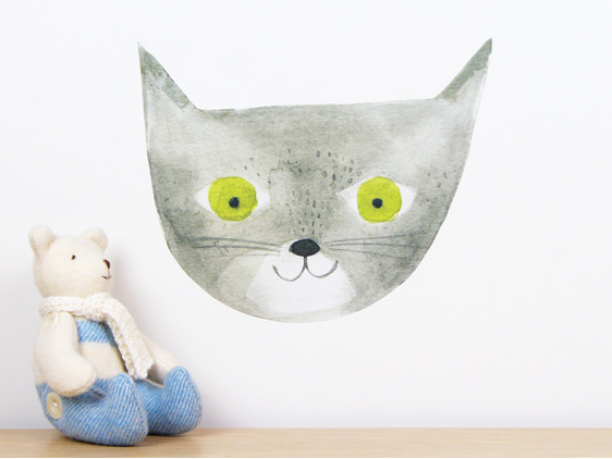 Cat wall decal
