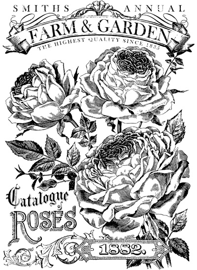 Catalogue of Roses Paintable IOD Decor Transfer
