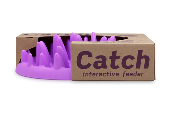 Catch interactive slow feeder for cats and small pets by Northmate