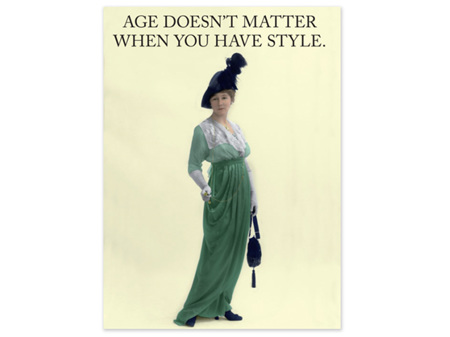Cath Tate Cards Age Doesn't Matter Blank