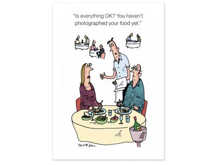 Cath Tate Cartoon Card Photograph your Food