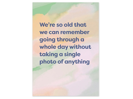 Cath Tate Humour - A Day Without Taking a Photo