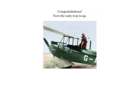 Cath Tate Photocaptions Card Congratulations The Only Way is Up