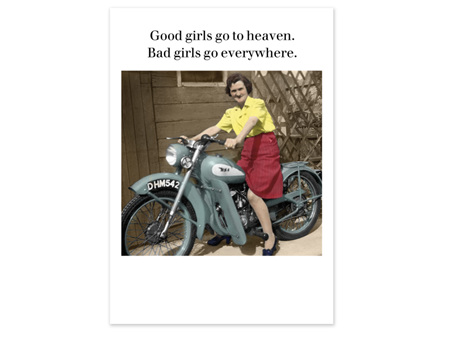 Cath Tate Photocaptions Card Good Girls