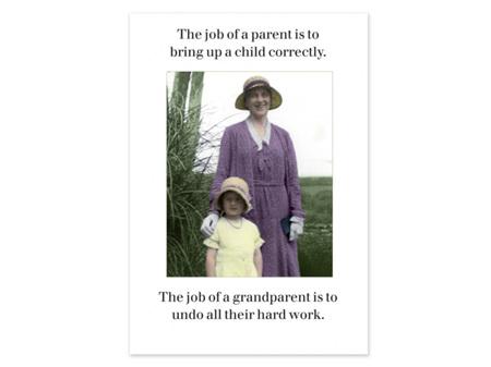 Cath Tate Photocaptions Card Job of a Grandparent