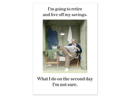 Cath Tate Photocaptions Card Live Off My Savings