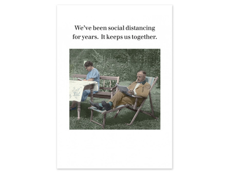 Cath Tate Photocaptions Card Social Distancing