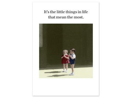 Cath Tate Photocaptions Card The Little Things in Life