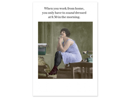 Cath Tate Photocaptions Card Work From Home