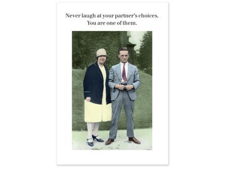 Cath Tate Photocaptions Card Your Partner's Choices