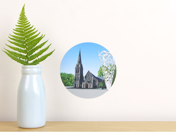 Cathedral and Chalice wall decal dot