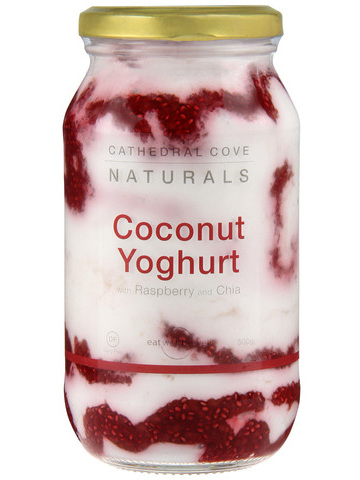 Cathedral Cove Naturals Raspberry & Chia Coconut Yoghurt - 500g