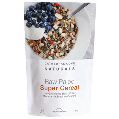 Cathedral Cove Raw Paleo Super Cereal  Goji Vanilla Bean 350gm