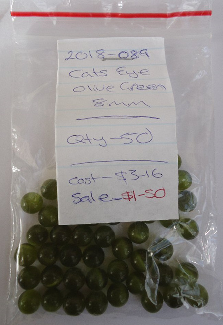 Cats Eye - Olive Green - 8mm