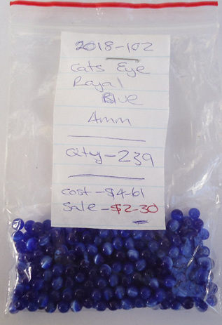 Cats Eye - Royal Blue - 4mm