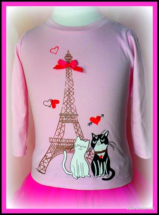 """""""Cats In Paris"""" top"""