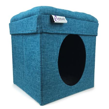 Cattitude Playbox  Blue