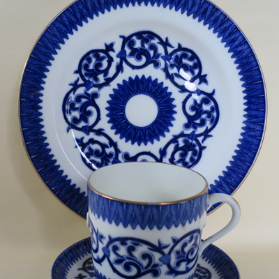 Large cup saucer and plate