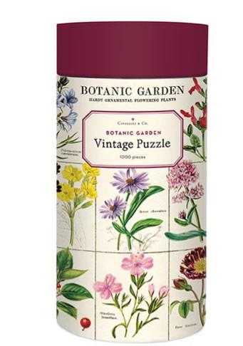 Cavallini 1000 Piece Jigsaw Puzzle: Botanic Garden