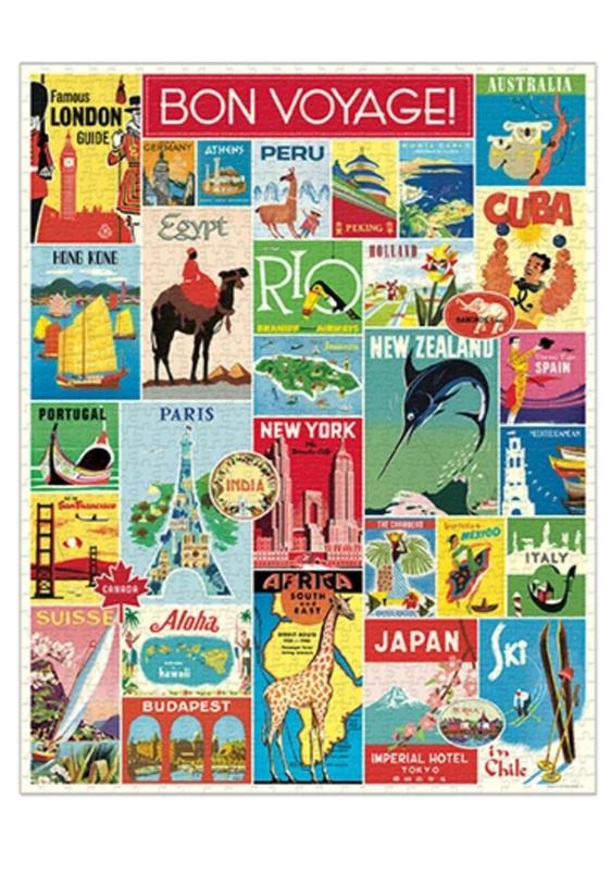Cavallini 1000 piece Jigsaw Puzzle Travel Buy at www.puzzlesnz.co.nz