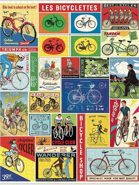 Cavallini 1000 Piece Puzzle - Bicycles