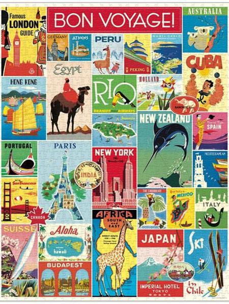 Cavallini 1000 Piece Puzzle - Bon Voyage