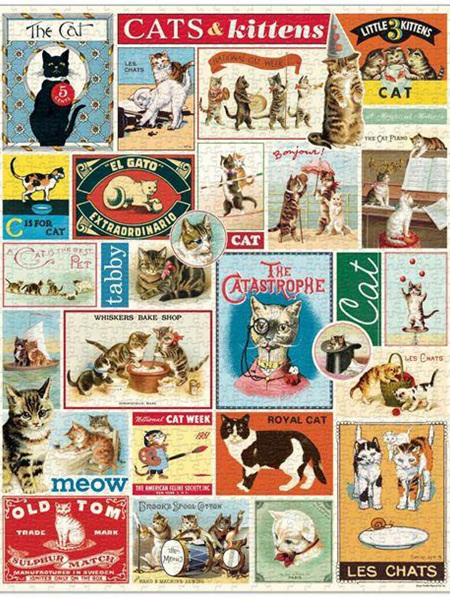 Cavallini 1000 Piece Puzzle - Cats & Kittens