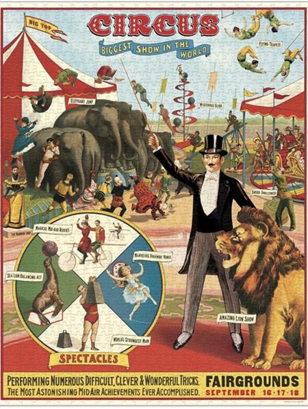 Cavallini 1000 Piece Puzzle - Circus