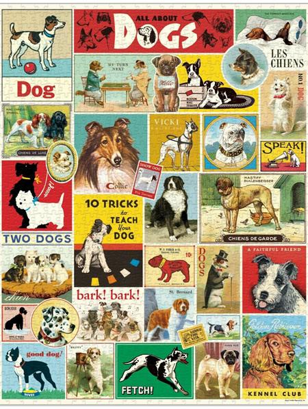Cavallini 1000 Piece Puzzle - Dogs