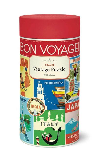 Cavallini & Co 1000 Piece Jigsaw Puzzle: Vintage Poster Travel