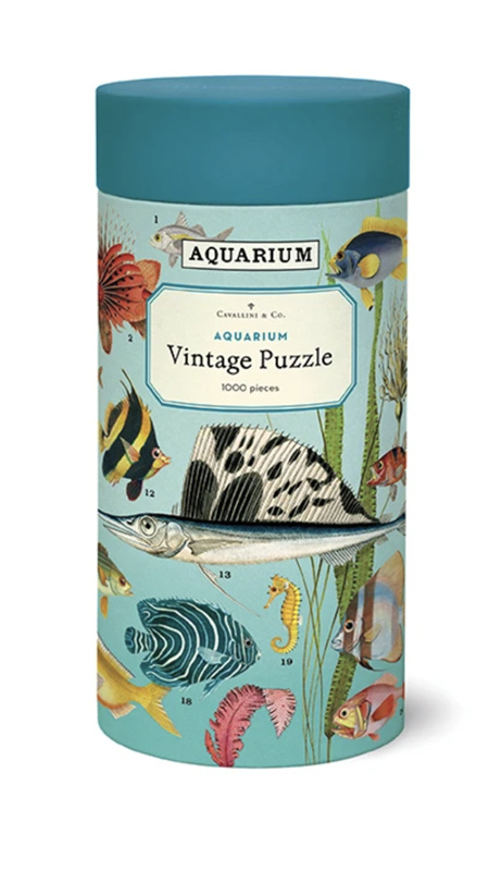 Cavallini & Co 1000 Piece Jigsaw Puzzle: Vintage Poster Aquarium