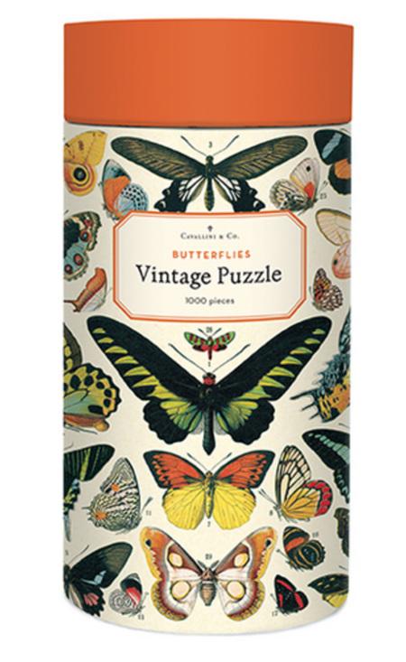 Cavallini & Co  1000 Piece Jigsaw Puzzle: Vintage Poster Butterflies