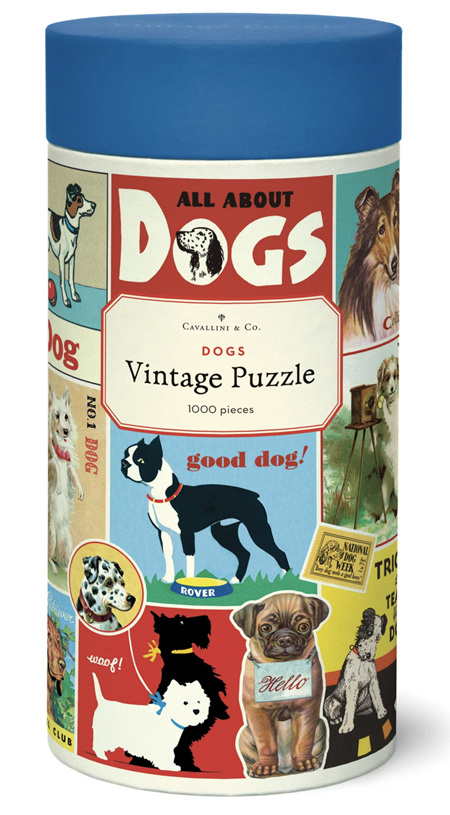 Cavallini & Co 1000 Piece Jigsaw Puzzle: Vintage Poster -  Dogs