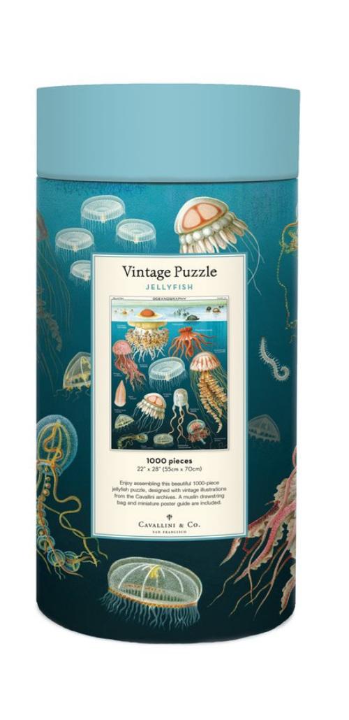Cavallini & Co 1000  piece puzzle Jellyfish buy at www.puzzlesnz.co.nz