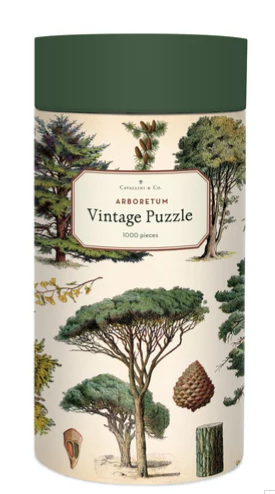 Cavallini & Co  1000 Piece Vintage Poster Jigsaw Puzzle: Trees