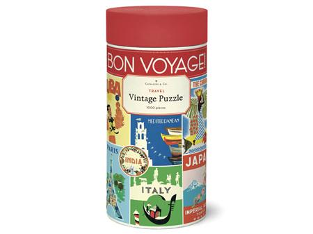 Cavallini & Co. Travel 1000 Piece Vintage Puzzle