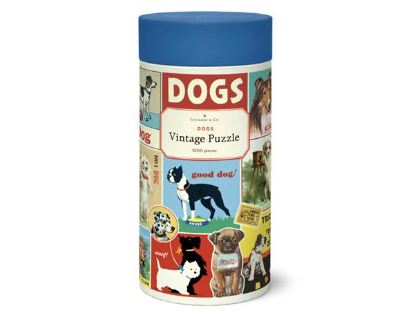 Cavallini & Co. 1000 Piece Vintage Puzzle Dogs