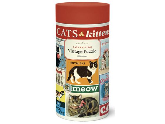 Cavallini & Co. Cats & Kittens 1000 Piece Vintage Puzzle