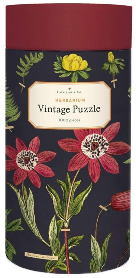Cavallini & Co Herbarium 1000 Piece  Vintage Poster Jigsaw Puzzle