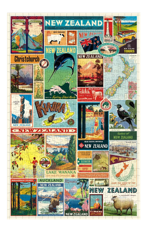 Cavallini & Co  NZ Images 500 Piece Vintage Poster Puzzle at www.puzzlesnz.co.nz