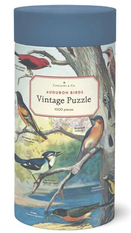Cavallini & Co Vintage Poster 1000 Piece Jigsaw Puzzle: Audubon Birds