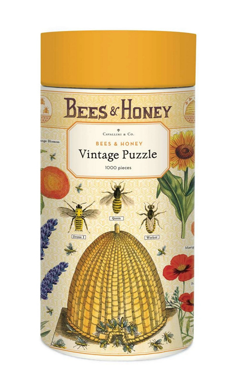 Cavallini & Co Vintage Poster 1000 Piece Jigsaw Puzzle: Bees & Honey