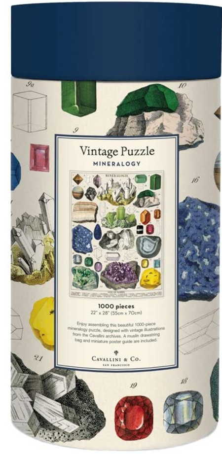 Cavallini & Co Vintage Poster 1000 Piece Jigsaw Puzzle: Minerology