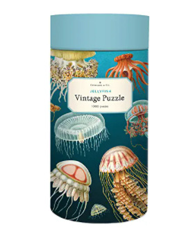 Cavallini & Co Vintage Poster 1000 Piece Jigsaw Puzzle: Jellyfish