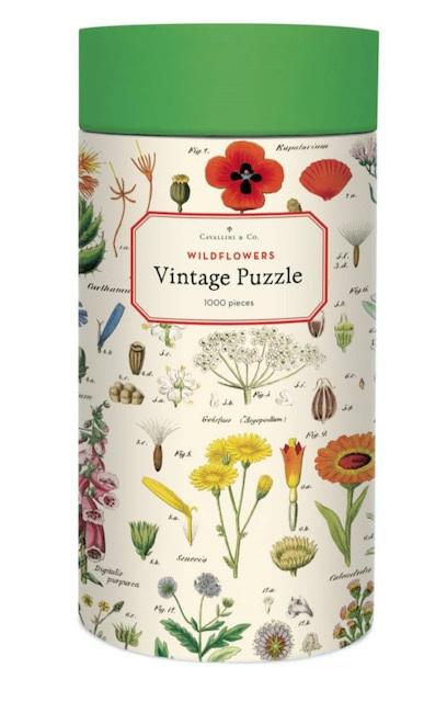 Cavallini & Co Vintage Poster 1000 Piece Jigsaw Puzzle: Wildflowers