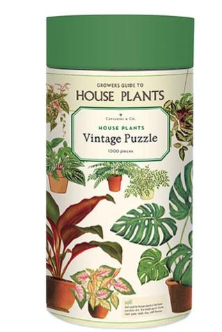 Cavallini & Co Vintage Poster 1000 Piece Jigsaw Puzzle: House Plants
