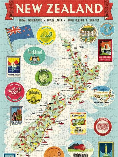 Cavallini Puzzle - NZ Map