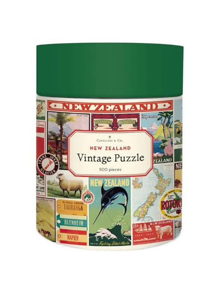 Cavallini Vintage 500 Piece Puzzle - New Zealand