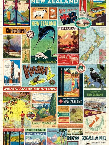 Cavallini Vintage Puzzle - New Zealand