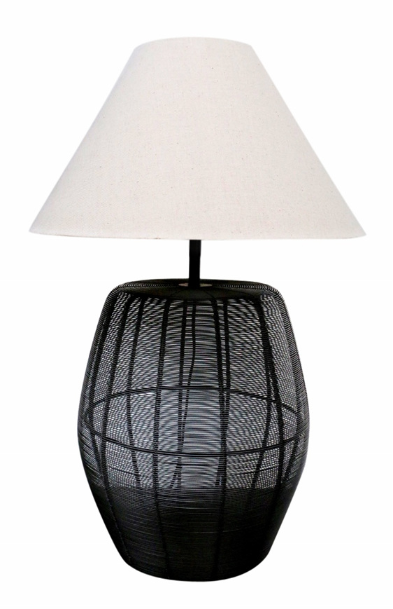 CC Interiors Basket Weave Lamp - Cerise Home & Giftware